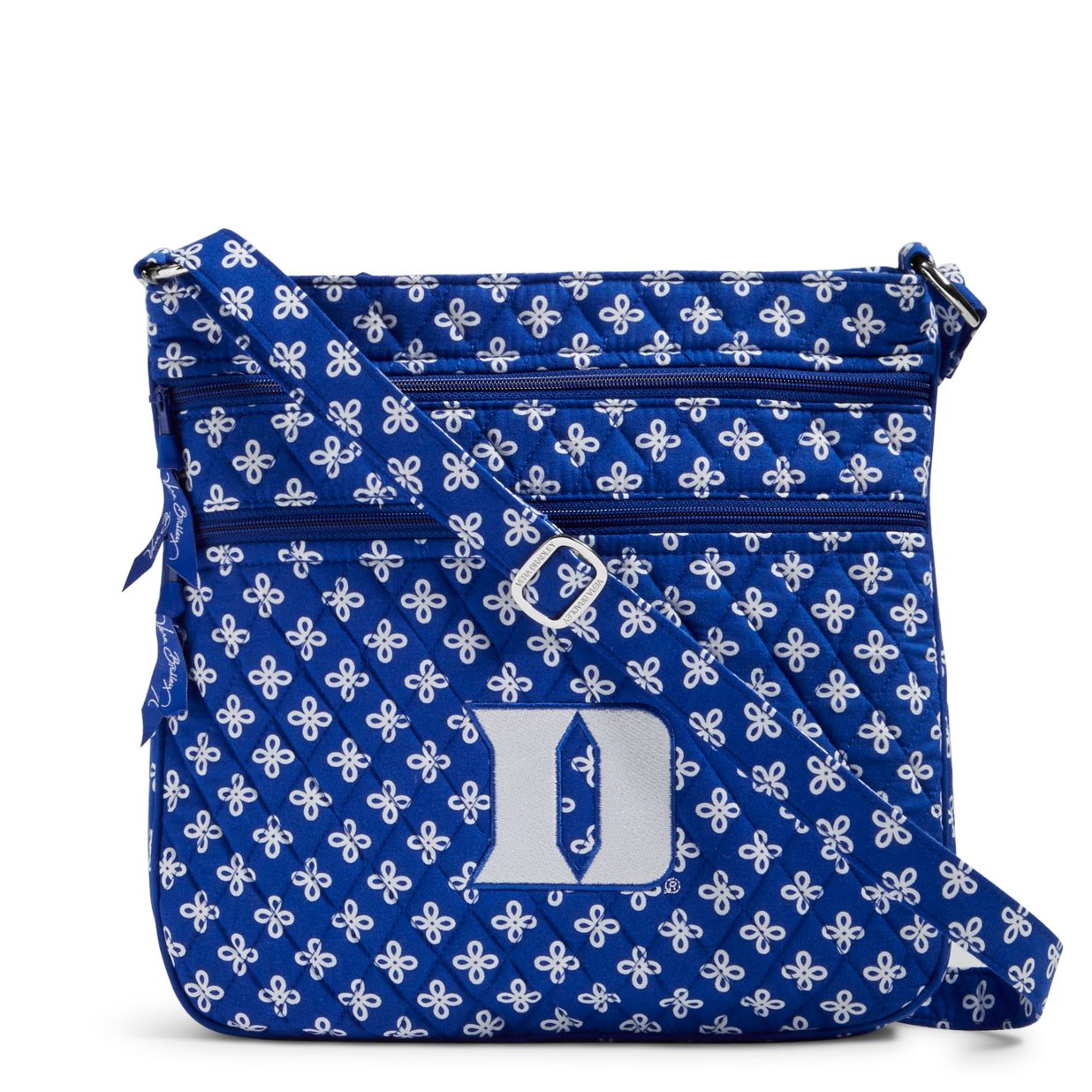 52ab5a06bb759b Image of Collegiate Triple Zip Hipster Crossbody in Royal White Mini  Concerto with Duke University ...