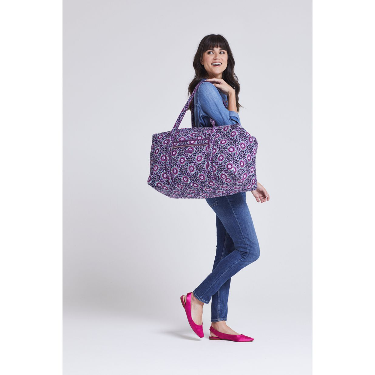 ... Image of Iconic Large Travel Duffel in Lilac Medallion ... 3cde1e2abce43