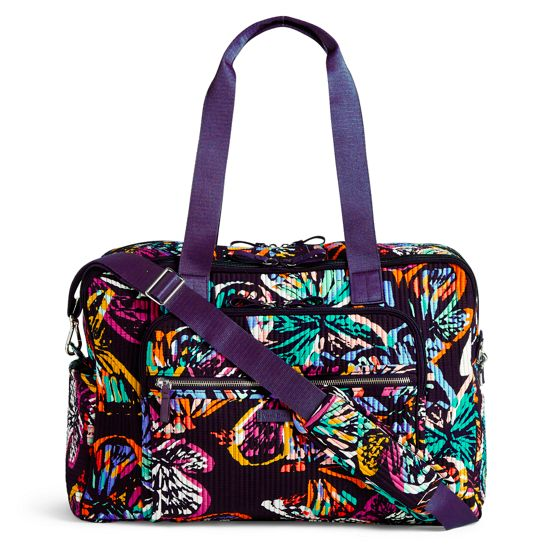 ef871716c37a Image of Iconic Deluxe Weekender Travel Bag in Pretty Posies ...