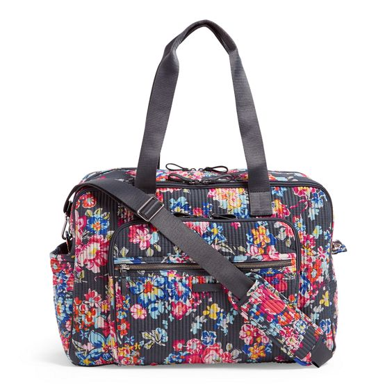 Image of Iconic Deluxe Weekender Travel Bag in Pretty Posies ... d45a92798fa57