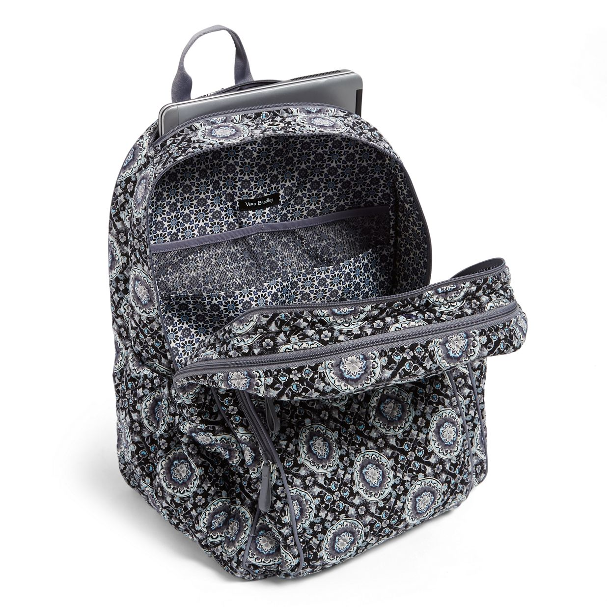 b8534f17691 ... Image of Iconic XL Campus Backpack in Charcoal Medallion