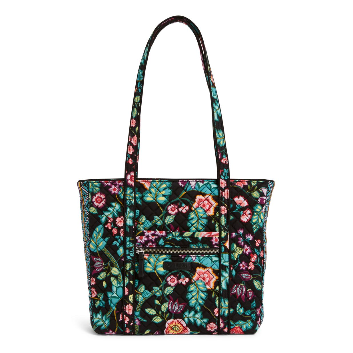 Image of Iconic Small Vera Tote in Vines Floral ... 0b254cd481d04