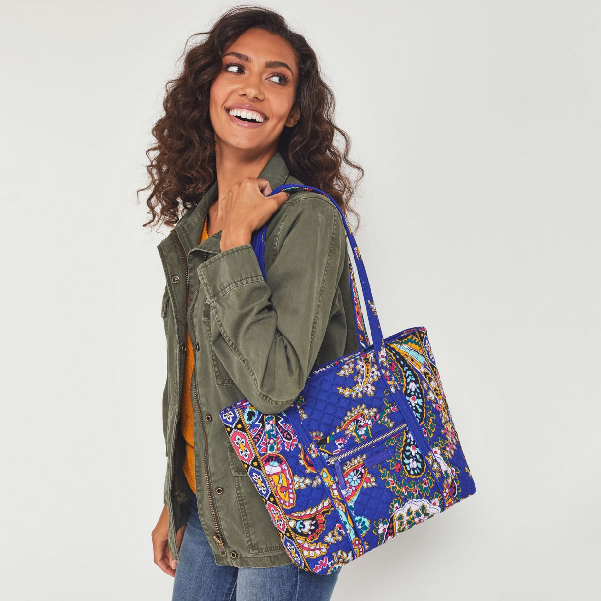 1aa4d363a ... Image of Iconic Small Vera Tote in Kaleidoscope ...