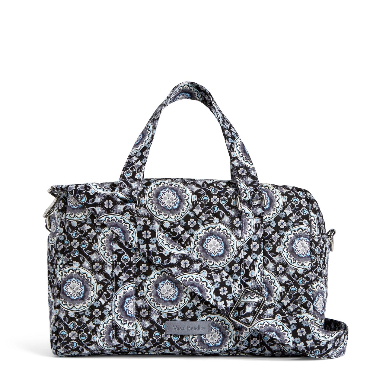 Image of Iconic 100 Handbag in Charcoal Medallion acec9d3a11ce9