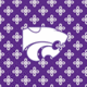 Purple/White Mini Concerto with Kansas State University Logo