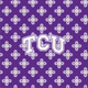 Purple/White Mini Concerto with Texas Christian University Logo
