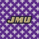 Purple/White Mini Concerto with James Madison University Logo