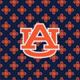 Navy/Orange Mini Concerto with Auburn University Logo