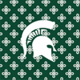 Dk Green/White Mini Concerto with Michigan State University Logo