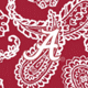 Cardinal/White Bandana with The University of Alabama Logo