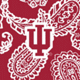 Cardinal/White Bandana with Indiana University Logo