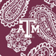 Maroon/White Bandana with Texas A and M University Logo