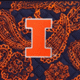 Navy/Orange Bandana with University of Illinois Logo