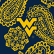 Navy/Gold Bandana with West Virginia University Logo