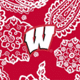 Red/White Bandana with University of Wisconsin Logo