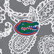Gray/White Bandana with University of Florida Logo