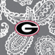 Gray/White Bandana with University of Georgia Logo
