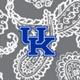 Gray/White Bandana with University of Kentucky Logo