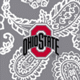 Gray/White Bandana with The Ohio State University Logo
