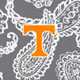 Gray/White Bandana with University of Tennessee Logo