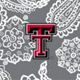 Gray/White Bandana with Texas Tech University Logo