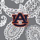 Gray/White Bandana with Auburn University Logo