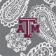 Gray/White Bandana with Texas A and M University Logo