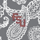 Gray/White Bandana with Florida State University Logo