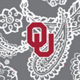 Gray/White Bandana with University of Oklahoma Logo