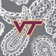 Gray/White Bandana with Virginia Tech Logo