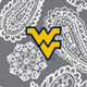 Gray/White Bandana with West Virginia University Logo