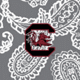 Gray/White Bandana with University of South Carolina Logo